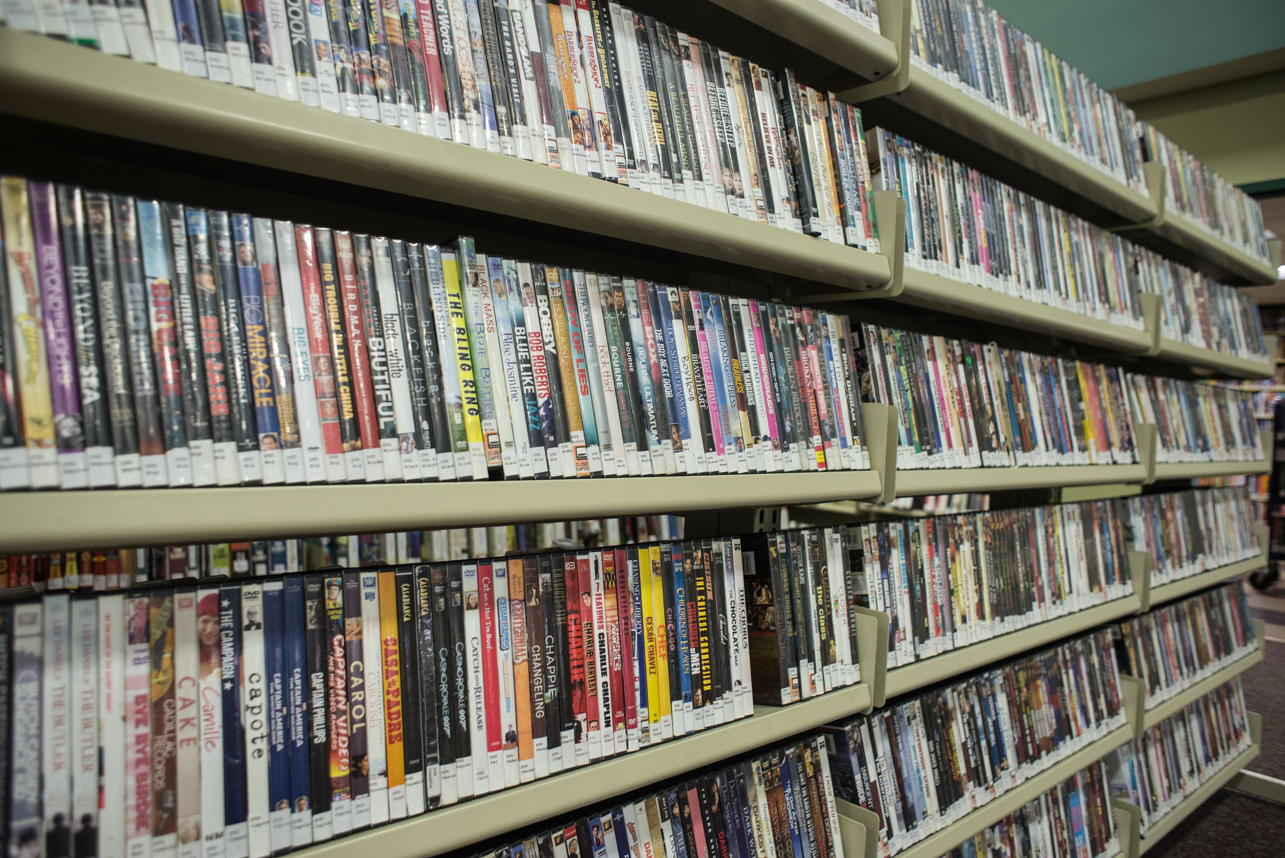 Image of shelves of DVDs