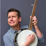 Image of Jim Gill playing a banjo.
