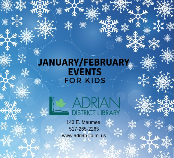 January/February Events for Kids