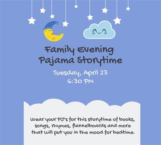 pajama storytime april 23