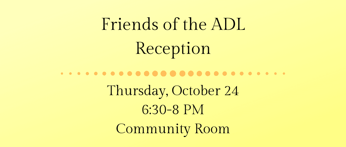 Friends of the ADL Reception Web Banner